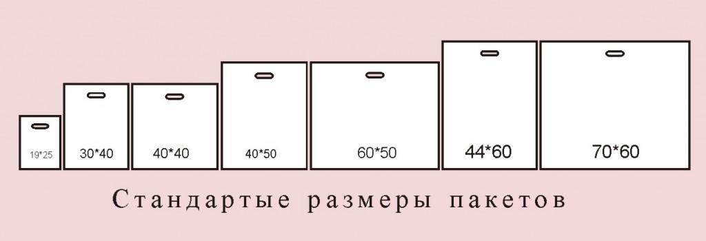 Размеры полиэтиленовых пакетов : ширина, длина, толщина